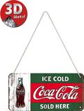 Coca-Cola - Ice Cold Sold Here Plaque en métal