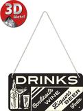 Drinks Tin Sign