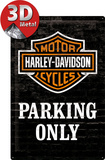Harley Davidson - Parking Only Metalen bord