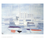 Boats in the Harbour Samletrykk av Nicolas De Stael