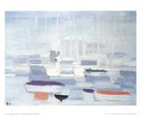 Boats in the Harbour Sammlerdrucke von Nicolas De Stael