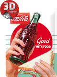 Coca-Cola Good With Food Plaque en métal