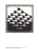 Aire y agua Lámina coleccionable por M.C. Escher