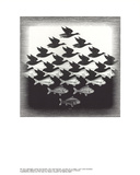 Céu e água Impressão colecionável por M.C. Escher