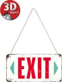 Exit Blechschild