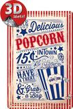 Popcorn Metalen bord