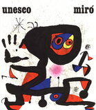 Unesco-Droits de L'Homme Samlertryk af Joan Miro
