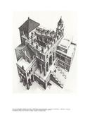 Ascendiendo y descendiendo Lámina coleccionable por M.C. Escher