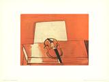 Le Violin Rouge Affiche par Raoul Dufy