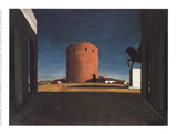 The Red Tower Collectable Print by Giorgio De Chirico