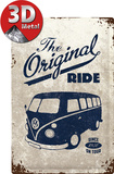 VW Bulli - The Original Ride Plaque en métal