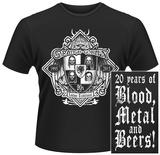 Orange Goblin- 20 Years of Blood, Metal & Beers (Front/Back) T-paidat