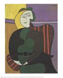 The Red Armchair Samletrykk av Pablo Picasso