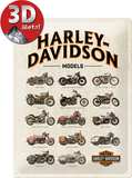 Harley-Davidson Model Chart Metalen bord
