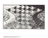 Day and Night Collectable Print by M.C. Escher