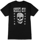 Sum 41- Distressed Grinning Skull T-Shirts