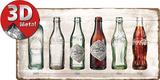 Coca-Cola - Bottle Timeline Blikkskilt