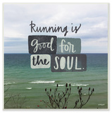 Running is Good For the Soul Wall Plaque Art Wood Sign