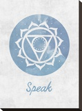 Chakra - Speak Stretched Canvas Print