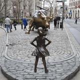 Fearless Girl Wall Street Premium fotografisk trykk