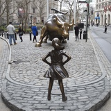 Fearless Girl Wall Street Photographic Print