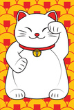 Smiling Lucky Cat Stampa