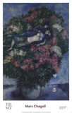 Lovers Among Lilacs Posters av Chagall Marc