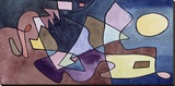 Dramatic Landscape Stretched Canvas Print by Paul Klee