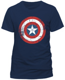 Captain America- Distressed Shield T-skjorter
