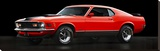 Ford Mustang Mach 1 Stretched Canvas Print by  Gasoline Images