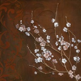 Cherry Blossoms on Cinnabar I Posters par Janet Tava