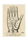 Palmistry: Palm Diagram Poster di  Vintage Reproduction