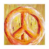 Peace Sign Reproduction procédé giclée par Ben Bonart