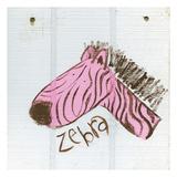 Happy Pink Zebra Art by Erin Butson