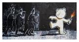 Stokes Croft Road, Bristol (graffiti attributed to Banksy) Giclee-trykk