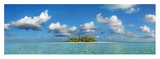 South Male Atoll, Maldives Giclée-Druck von Frank Krahmer