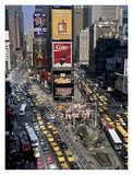 Traffic in Times Square, NYC Giclee Print by Michel Setboun