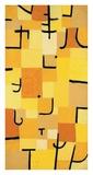 Signs in Yellow Giclee-trykk av Paul Klee