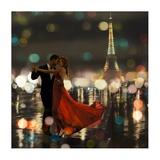 Midnight in Paris Giclée-tryk af Dianne Loumer