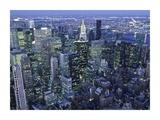 Manhattan skyline at dusk, NYC Giclee Print by Michel Setboun