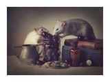 Snoozy And Jimmy Giclée-tryk af Ellen Van Deelen