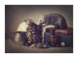 Snoozy And Jimmy Lámina giclée por Ellen Van Deelen