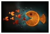 Orange Fish Giclee Print by Aida Ianeva