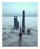 Sky City Giclée-Druck von Stan Huang