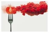 Disintegrated Tomato Reproduction procédé giclée par Dina Belenko