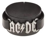 AC/DC - Logo Leather Bracelet Armbånd