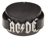 AC/DC - Logo Leather Bracelet Braccialetto