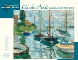 Claude Monet - Sailboats on the Seine 1000 Piece Jigsaw Puzzle Jigsaw Puzzle