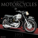 Classic Motorcycles - 2018 Calendar Calendriers