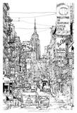 B&W City Scene II Posters par Melissa Wang